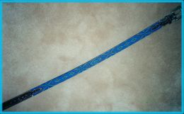 Hand Beaded Belt Blue