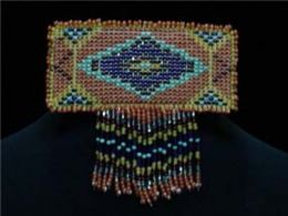 Hand Beaded 'Navajo Diamond' Barrette