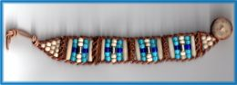 Rattlesnake Vertebrae Bracelet with Buffalo Bone Beads, Turquoise and Cobalt 'White Heart' Pony Beads and Sterling Silver Beads