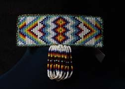 Hand Beaded 'White Diamonds' Barrette